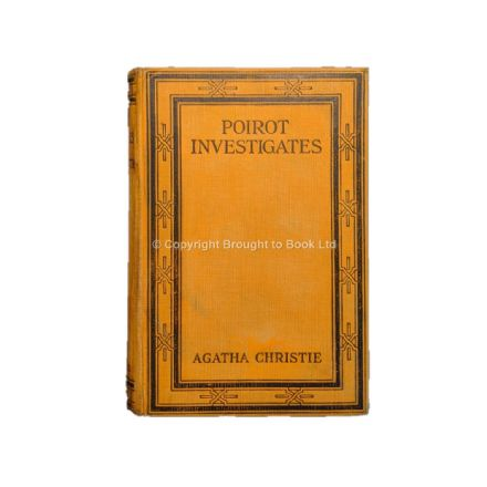 Poirot Investigates by Agatha Christie First Edition First Impression The Bodley Head 1924